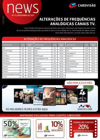 alterações de frequências analógicas canais tv. - Câmara Municipal ...