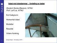 Student Senka Blazevic, NTNU Prof. Leif Lia, NTNU - Energi Norge
