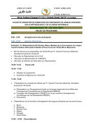 african union union africaine união africana atelier de ... - ACALAN