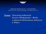 Temat: Znaczenie połączenia Gorzów Wielkopolski – Berlin w ...