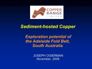 Sediment hosted copper - Saexplorers.com.au