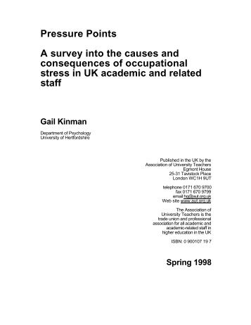 Pressure Points A survey into the causes and consequences ... - UCU