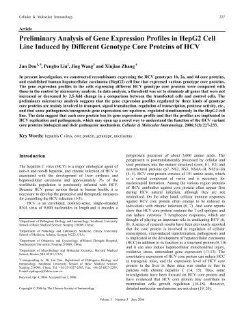 Preliminary Analysis of Gene Expression Profiles in HepG2 Cell ...