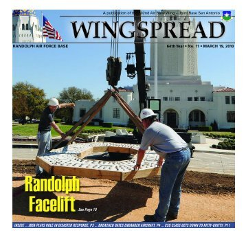 RANDOLPH AIR FORCE BASE 64th Year • No. 11 - San Antonio ...