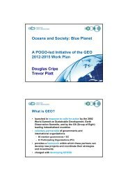 Oceans and Society: Blue Planet A POGO-led Initiative of the GEO ...