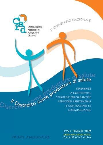 19/21 marzo 2009 - CARD Confederazione Associazioni Regionali ...