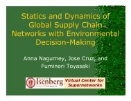 Statics and Dynamics of Global Supply Chain Networks with ...