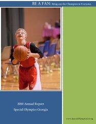 2010 Annual Report Special Olympics Georgia