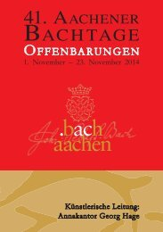 41. Aachener Bachtage