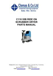 c110 55b ride on scrubber dryer parts manual - Clemas & Co Ltd