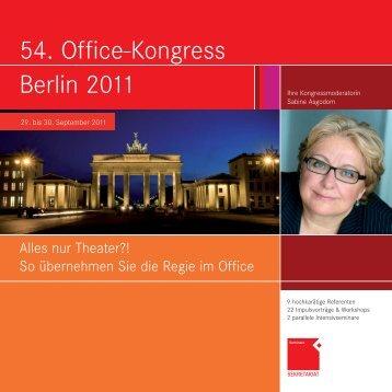 54. Office-Kongress Berlin 2011 - OFFICE SEMINARE
