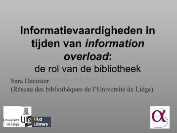 Informatievaardigheden in tijden van information overload: - ABD-BVD