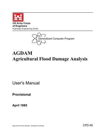 AGDAM Agricultural Flood Damage Analysis User's Manual ...
