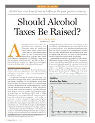 Should Alcohol Taxes Be Raised? - Cato Institute