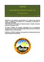 CALENDARIO DE ACTIVIDADES OTOÑO / 2012 - Fapas