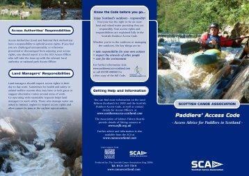 Paddlers' Access Code - Scottish Natural Heritage