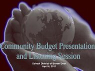 April 6, 2011 Listening Session Presentation - Brown Deer School ...