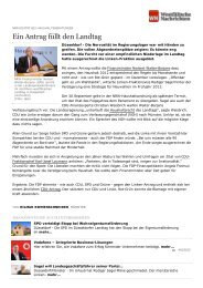 Wesfälische Nachrichten vom 28.09.2011 - Sagel, Rüdiger (Die Linke)