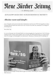 «Blocher warnt und kämpft» - Christoph Blocher