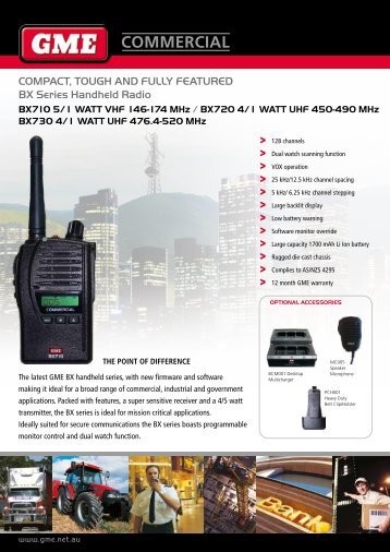 BX Series Product Brochure - GME