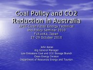 Coal Policy and CO 2 Reduction in Australia - Expert Group on ...