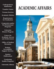 2010-13 UG Catalog - Academic Affairs - Morgan State University