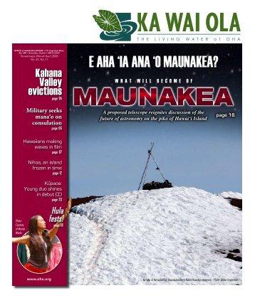 E aha 'ia ana 'o MaunaKEa? - Thirty Meter Telescope