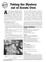 Taking the Mystery out of Scouts Own