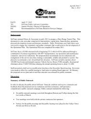 Site Analysis and Conceptual Design Report - Soltrans