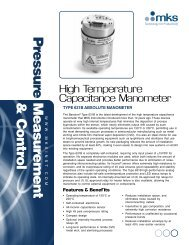 MKS 631B Capacitance Manometer Datasheet - MHz Electronics, Inc