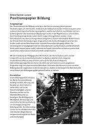 Positionspapier Bildung - Grüne Luzern
