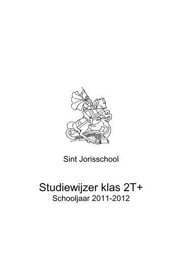 Studiewijzer klas 2T+ - St. Jorisschool Nijmegen