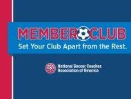 member club program - National Soccer Coaches Association of ...