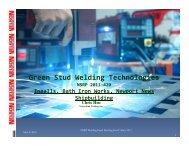 Green Stud Welding Technologies - NSRP