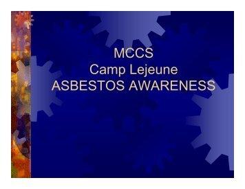 Asbestos Awareness 2013 - MCCS Camp Lejeune