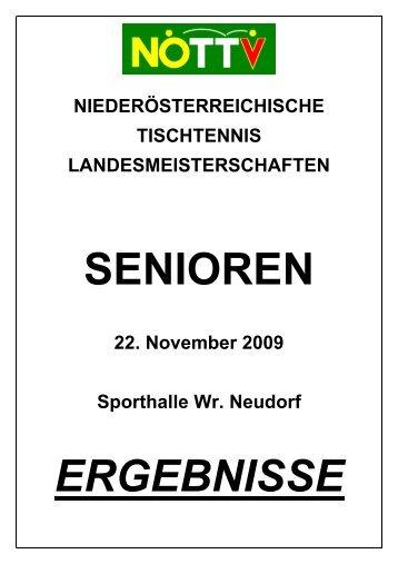 NÖ. LM der Senioren 2009, Wr. Neudorf, 22.11 ... - TTSV Weigelsdorf