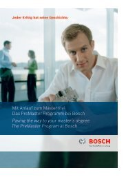 Mit Anlauf zum Mastertitel: Das PreMaster Programm bei Bosch ...