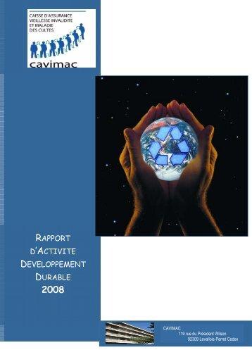 Cliquez-ici pour consulter le rapport DD 2008 de la Cavimac - Ucanss
