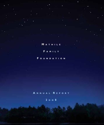 Annual Report - Mathile Family Foundation