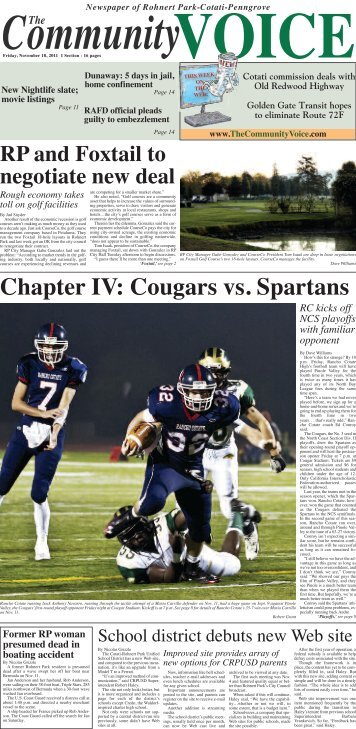 Chapter IV: Cougars vs. Spartans - The Community Voice