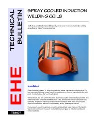 Spray cooling for induction welding coils - Electronic Heating ...