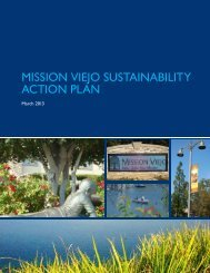 MISSION VIEJO SUSTAINABILITY ACTION PLAN - City of Mission ...