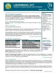 Lægemiddel Nyt 201102 - Sygehusapoteket - Region Nordjylland