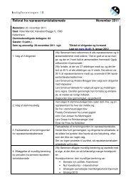 Referat fra repræsentantskabsmøde November 2011