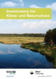 Broschüre Investments für Klima- und Naturschutz - MoorFutures