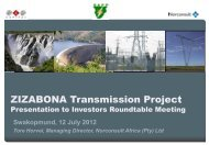 ZIZABONA Transmission Project - Southern African Power Pool