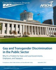 Gay and Transgender Discrimination in the Public Sector - AFSCME