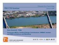 PSU CTS Seminar - Center for Transportation Studies