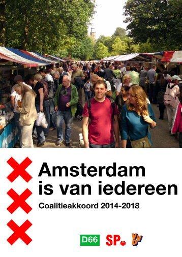 Coalitiekkoord Amsterdam 2014-2018 internet