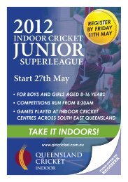 JUNIOR - Queensland Cricket